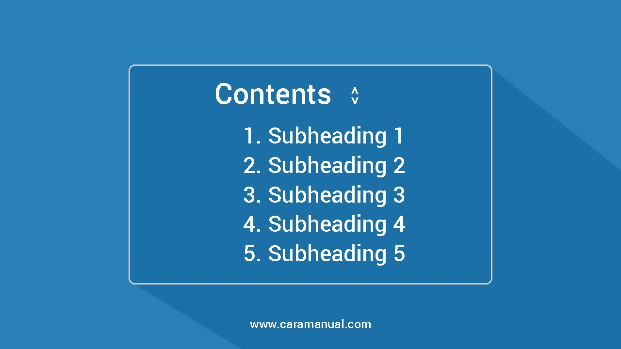 Cara Membuat Table of Contents (TOC) di Postingan Blogger
