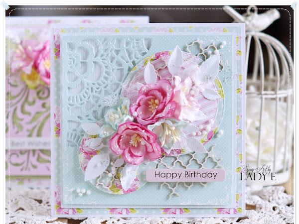 Cotton candy Cards / Kartki z Waty Cukrowej