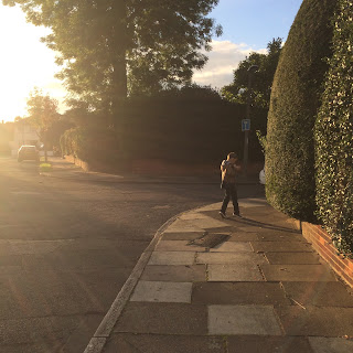 Autistic boy walking