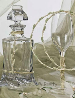 Decanter and champagne glass for weddings