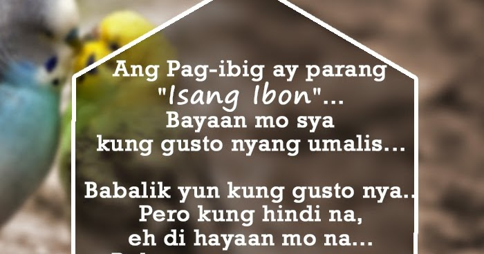 tagalog pagibig quotes that we can relate to boy banat