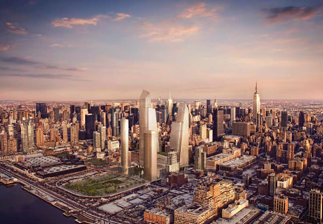 Photo of new towers proposed for phase one with new york skyline