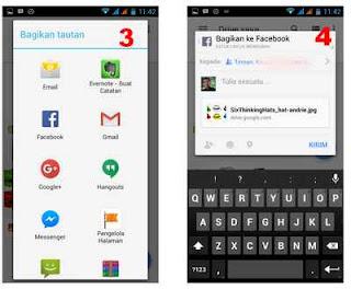 share link file google drive android ke medsos
