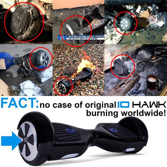 xe điện cân bằng iohawk không lo cháy nổ