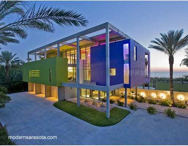 Casa de playa Posmoderna americana
