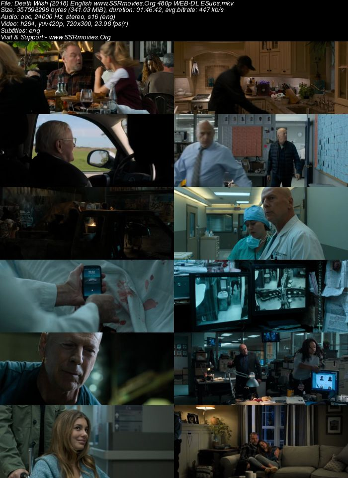 Death Wish (2018) English 480p WEB-DL 300MB