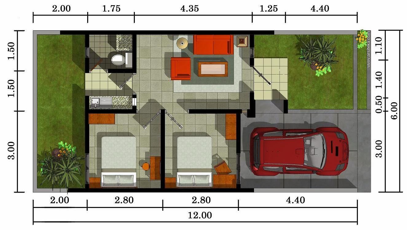Contoh Denah Atau Sketsa Rumah Minimalis Terbaru Desain Denah
