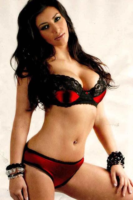 Kim kardashian Hot red bikini wallpapers HD