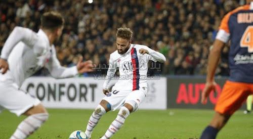 باريس سان جيرمان يقلب الطاوله على فريق مونبلييه ويفوز عليه ثلاث اهداف لهدف في الدوري الفرنسي