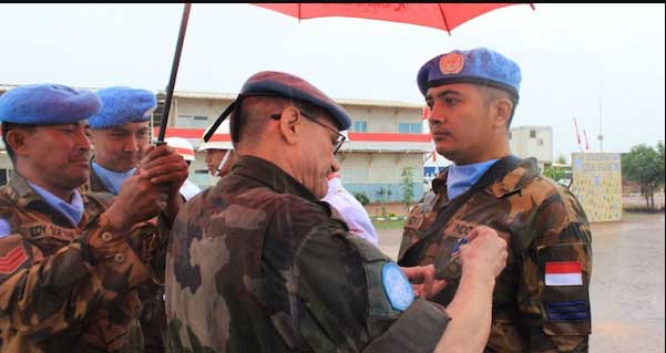 HEBAT! 200 Prajurit TNI Terima Penghargaan PBB di Afrika Tengah