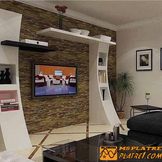 Nouveau placard de tv en plâtre - PLATRE MAROC™
