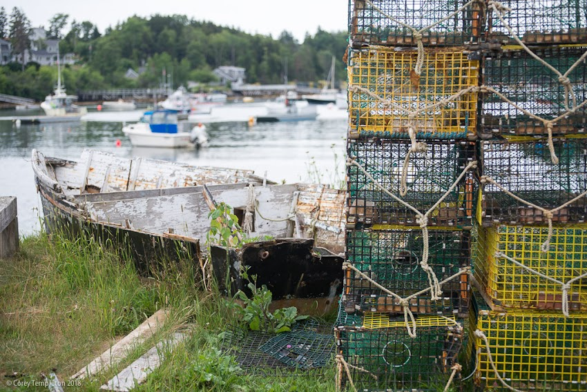 Harpswell, Maine USA July 2018 photo by Corey Templeton. Summer scenes around the Bailey Island Cribstone Bridge and Mackerel Cove.