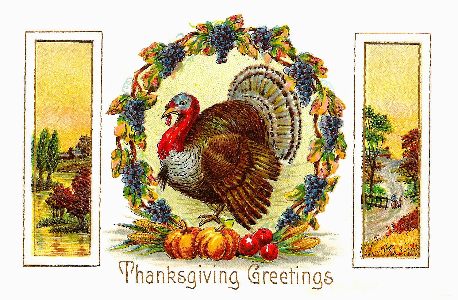 Antique Thanksgiving card