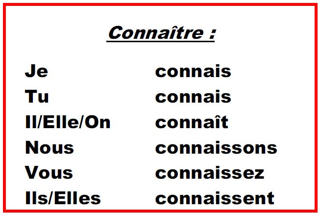 Blog De Francais Fcpys Unam Le Verbe Connaitre
