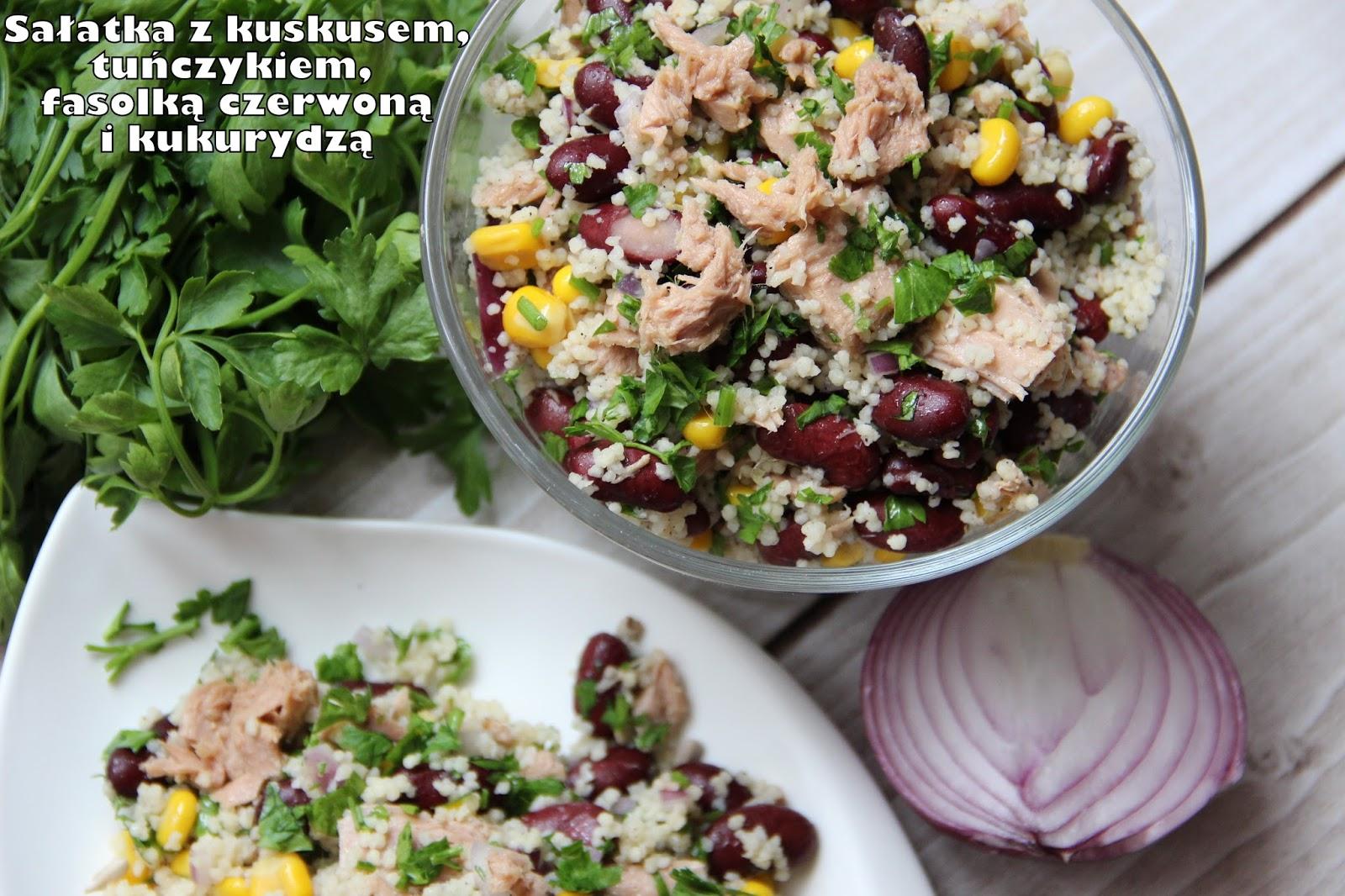 Ugotowac Blogspot Com Salatka Z Kuskusem Tunczykiem Czerwona