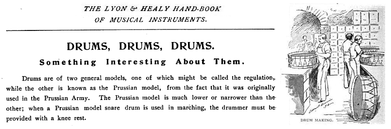 1890s Lyon & Healy Prussian Drum description
