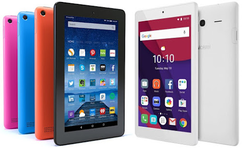 Amazon Fire vs Alcatel Pixi 4 (7), dos tablets de menos de 50 euros