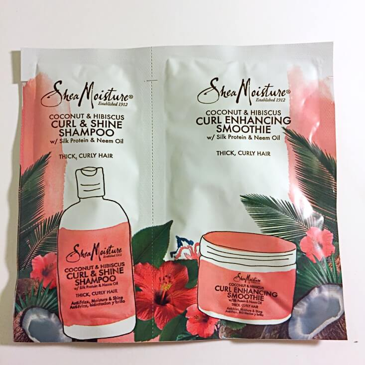 Shea Moisture Coconut & Hibiscus Curl Shine Shampoo and Curl Enhancing Smoothie