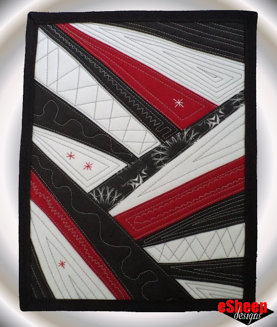 Criss Cross Mini Quilt by eSheep Designs