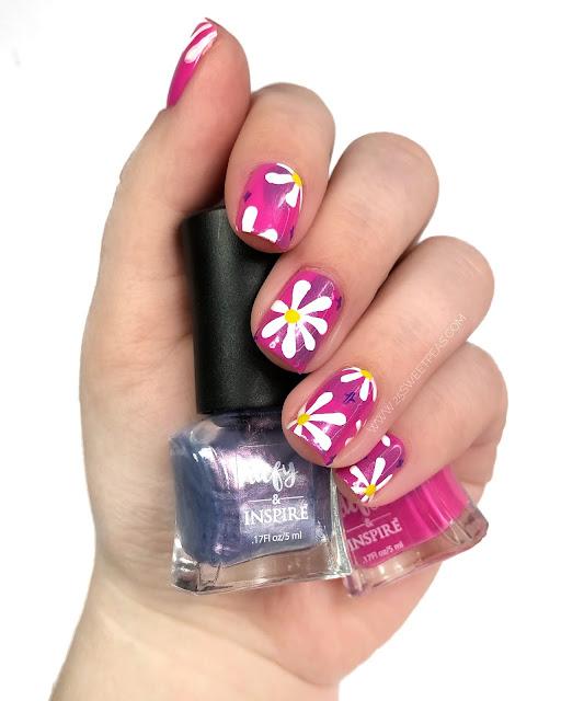 Floral Nail Art 25 Sweetpeas