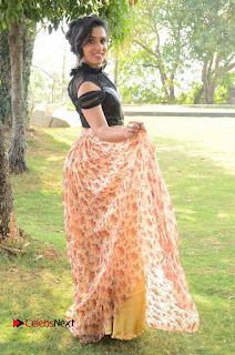 Actress Chetana Uttej Stills in Floral Long Skirt at Pichiga Nachav Movie Press Meet  0104.JPG