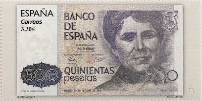 BILLETE DE 500 PESETAS, ROSALÍA DE CASTRO
