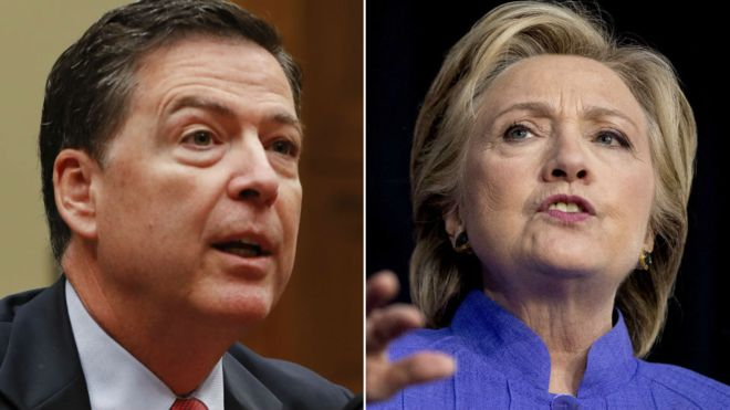 Clinton emails: FBI chief may have broken law, says top Democrat