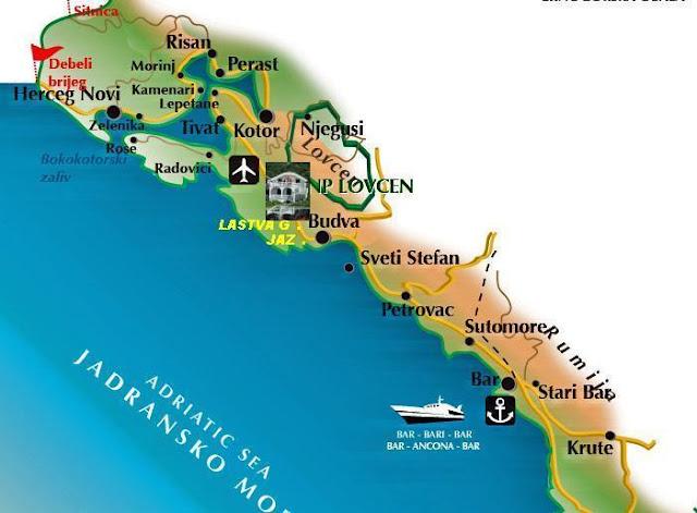 mapa obale crne gore HOTEL S I N D Č E L *** NIKŠIĆ: UPOZNAJTE CRNU GORU mapa obale crne gore