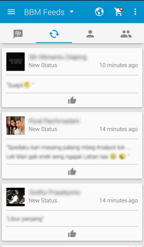 Menyembunyikan Update Status BBM