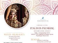 Ritual dan tradisi adat pernikahan Palembang Diseminarkan, 13 September 2017