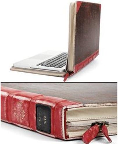 25. Buku laptop = cover laptop terbuat dari buku bekas.