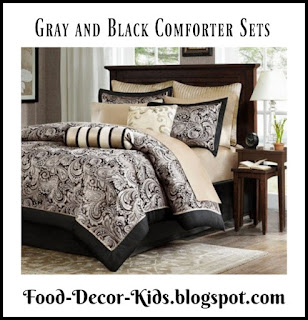 Gray and Black Comforter Sets
