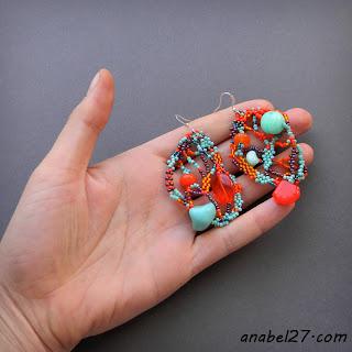 яркие украшения из бисера от Anabel