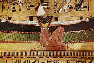 image: Winged Isis Egyptian goddess