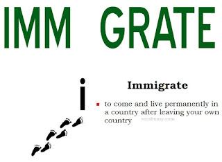 vocabeasy.com, immigrate, migrate