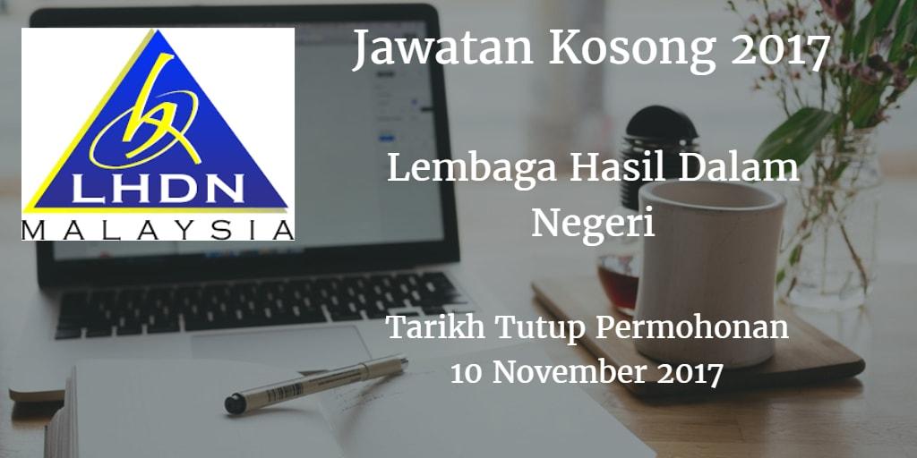 Jawatan Kosong LDHN 10 November 2017