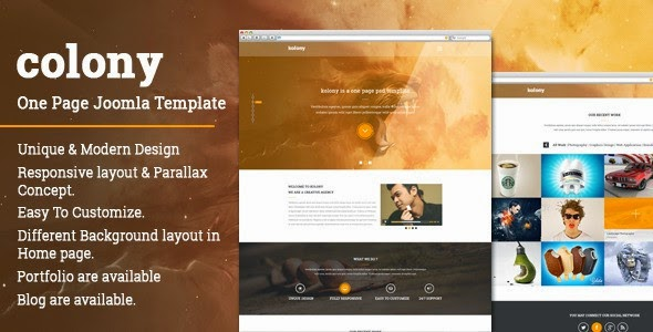 Best One Page Joomla Template 2015