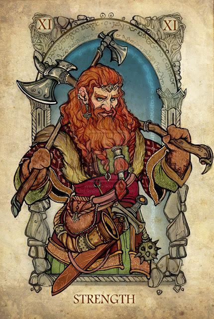 Senhor dos anéis em cartas de tarô - Força