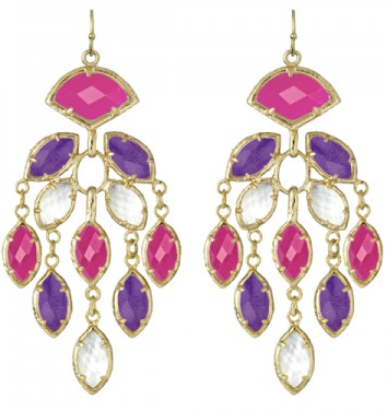Kendra Scott Pink & Purple Gwen Earrings: $80