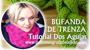 Cómo Tejer Bufanda de Trenza con Dos Agujas / Tutorial