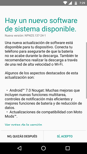 MOTO Z PLAY CON ANDROID NOUGAT OFICIAL