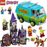 Lego Scooby-Doo com cenário casa mal assombrada Van e Outros