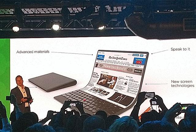 अखबार की तरफ फोल्ड कीजिए लेनोवो का यह लैपटॉप