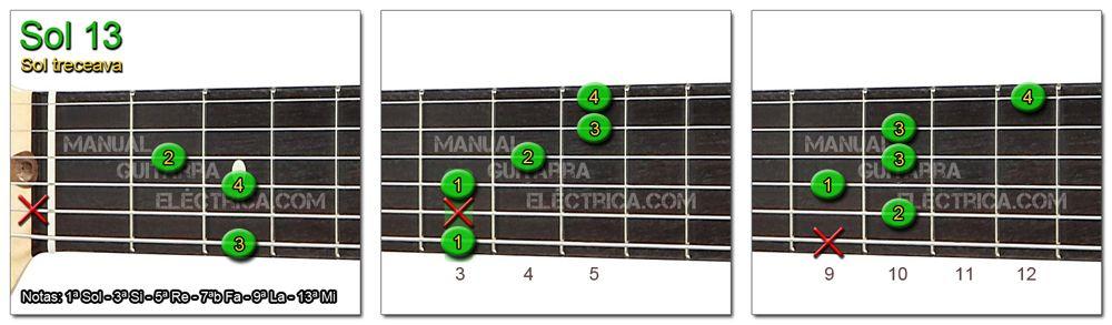 Acordes Guitarra Sol Treceava - G 13