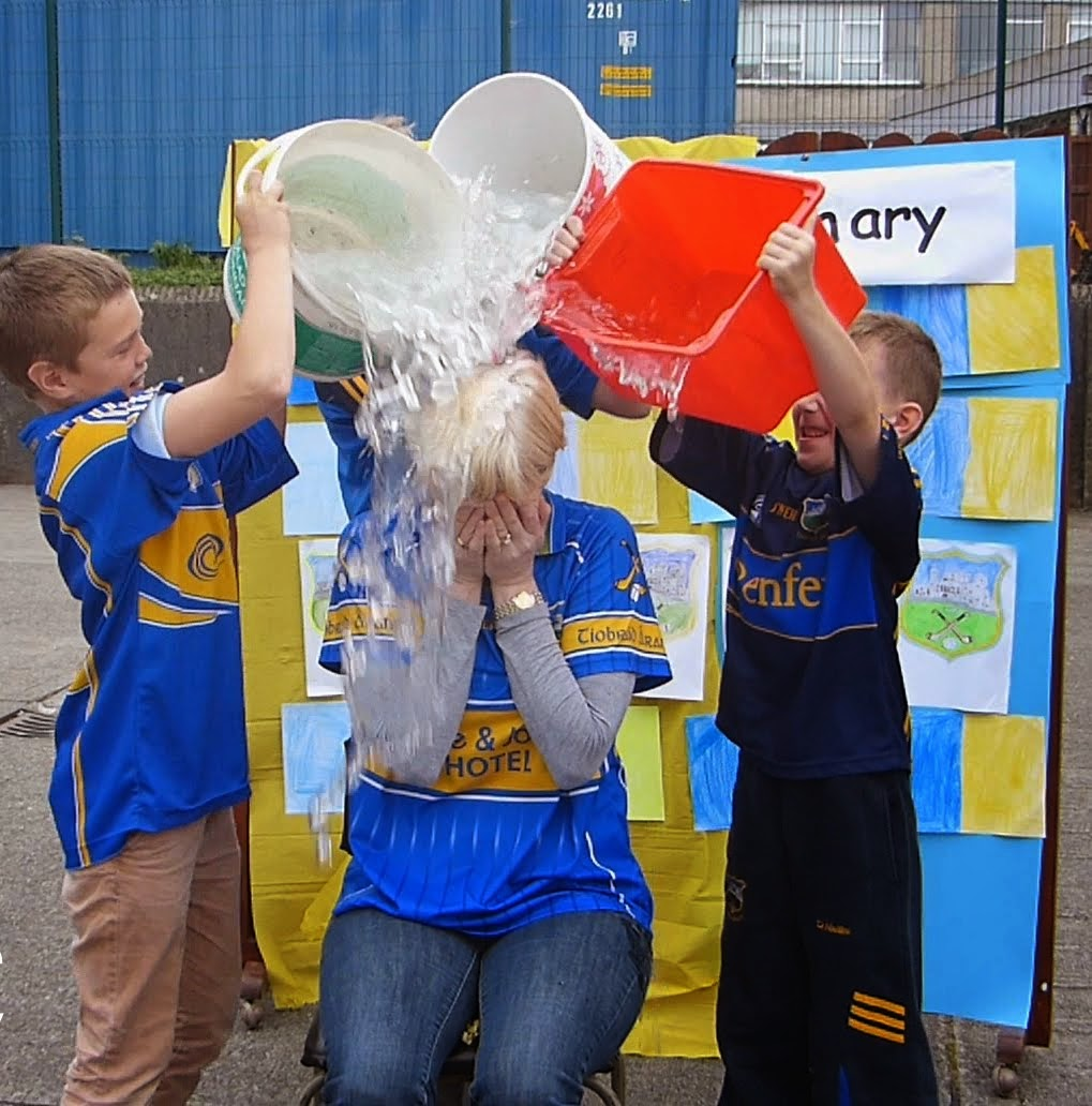 Ms Brophy does the Ice Bucket Challenge!