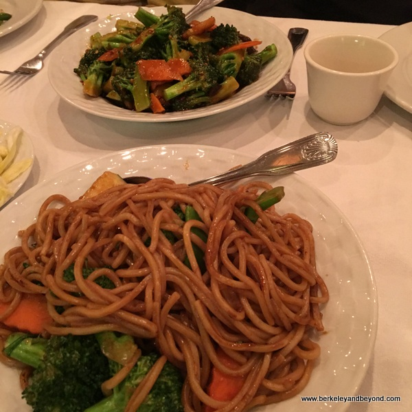 chow mein at Cathay Palisades in Pacific Palisades, California