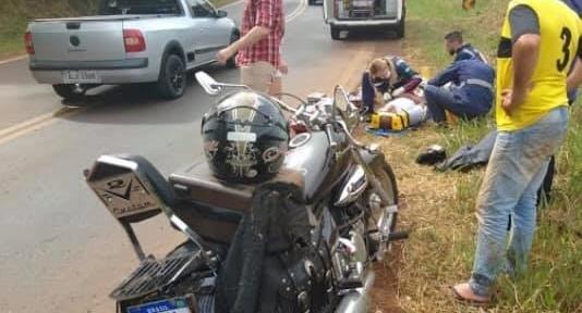 Manoel Ribas: Motociclista fica ferido em acidente na PR-466