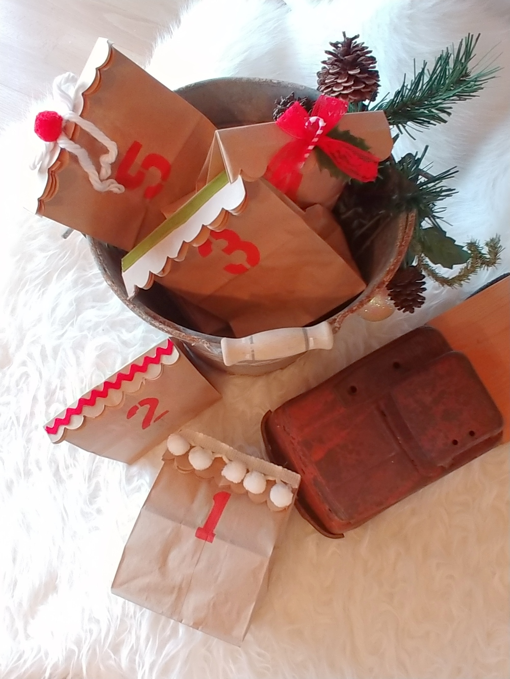 brown bag advent calendar