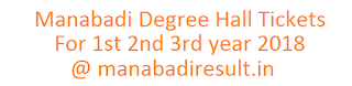 Manabadi Degree Hall Tickets 2018