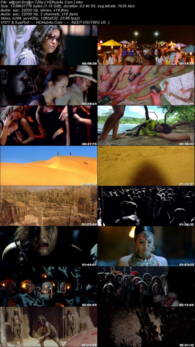 Aayirathil Oruvan 2010 UNCUT Hindi Dual Audio 480p HDRip 400MB Download